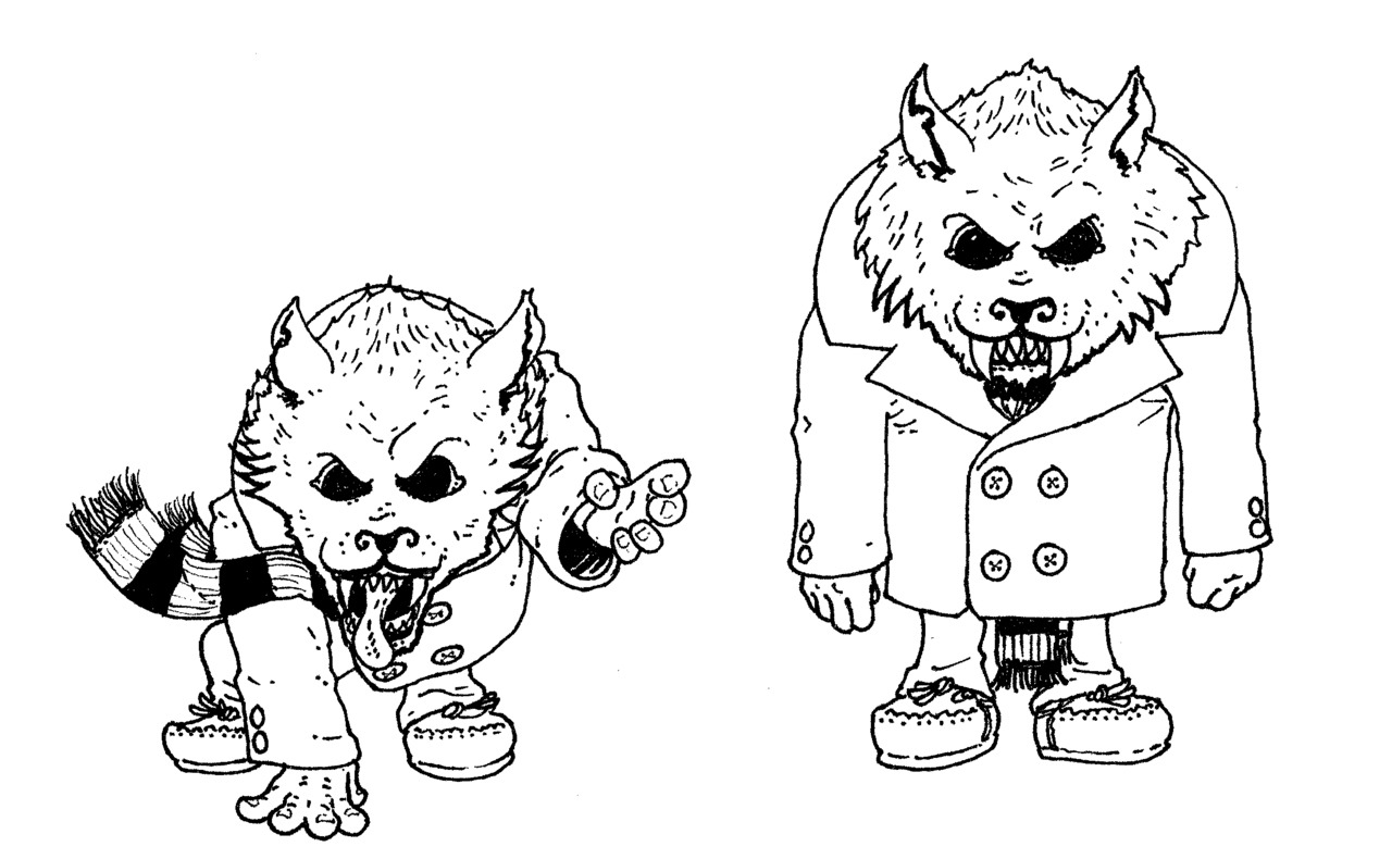 Monster concept for a children's book #2.  Original art and writing © Jasey Crowl 2012
