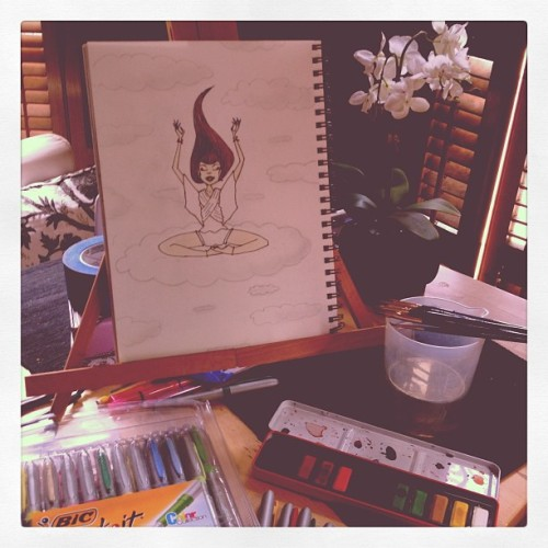 Artwork in Progress for The Adding Bliss Journal (Taken with Instagram)