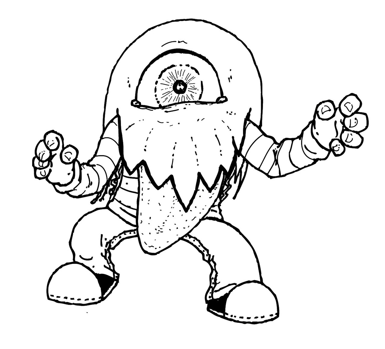 Monster concept for a children's book #3.  Original art and writing © Jasey Crowl 2012