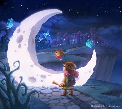 yasminacreates:  Found a Moon by ~darkmello