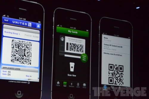 Introducing Passbook: Apple's new app for storing credit card info, movie tickets, boarding passes, and more.