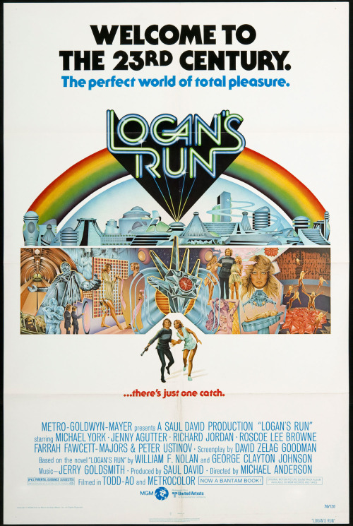 Logan's Run (1976) - Ansiosa pelo remake, only this. Ahh e muito divertido o chatroulette do século 23.  Quote:  Box: Fish, plankton, sea greens… protein from the sea!