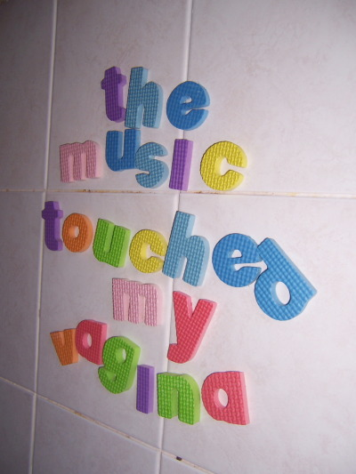 'the music touched my vagina' 20th April 2012 C.D