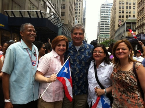 The 2012 Puerto Rican Day Parade was exciting and it made me happy just to be there. It was great to see the enthusiasm and energy for a community that has added so much to the rich culture of New York City.   Viva Puerto Rico!