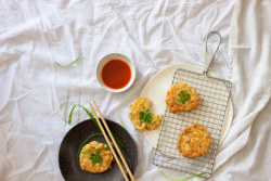 Corn & Coconut Fritters. My post here.