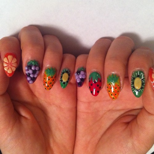 Fruit basket #nail  #nailart  (Taken with Instagram)