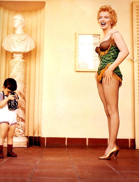 Marilyn Monroe with Milton Greene's son Joshua Greene