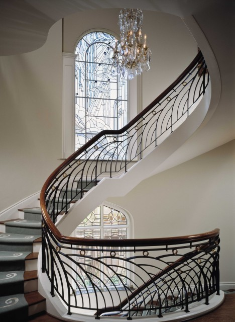 Elegant townhouse staircase in New York (via Ike Kligerman Barkley)