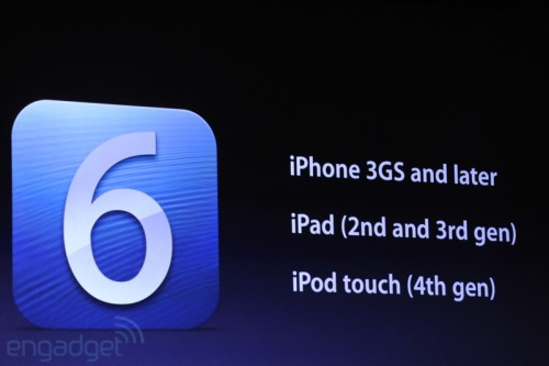 Here's the full list of devices that will be compatible with iOS 6 when it releases this fall.