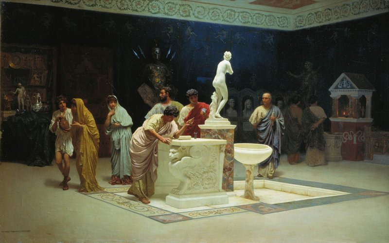 immaginaria:  At Maecenas Reception, by Stepan Bakalovich, 1890