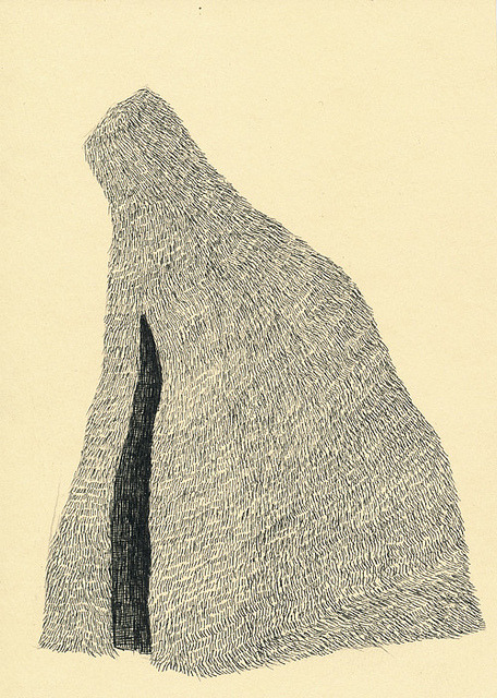 "oxane:  untitled by nick_howard on Flickr. pen on paper 5"" x 7"""