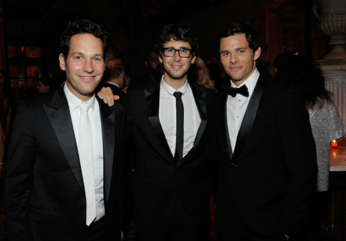 Paul Rudd, Josh Groban, and James Marsden at the Tony Awards afterparty