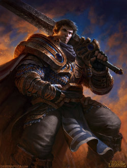 Garen League of Legends by *DavidRapozaArt —-x—- More: | David Rapoza | Random |