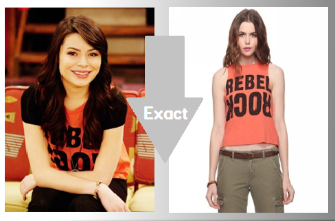 Miranda Cosgrove wear's a Forever 21, Rebel Rock Top £9.61/ $14.90