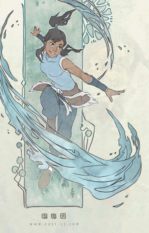 rufftoon:  gabzilla-z:  nehle:  Korra nouveau by *OlgaUlanova  lovely  Great composition and pose <3