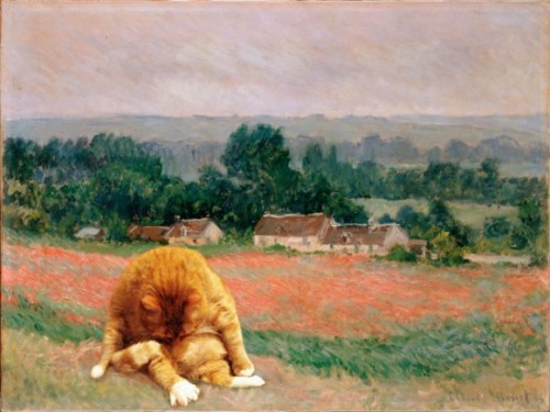 "Monet's ""Cat in Wheatfield"""