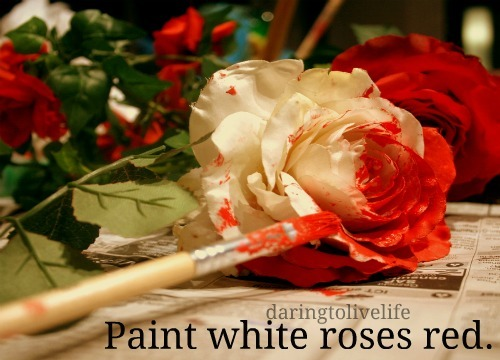 daringtolivelife:  122. Paint white roses red.