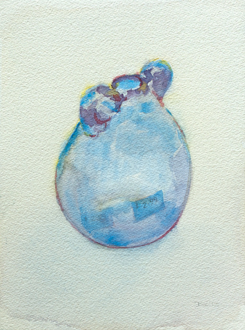 two dollars and ninety-nine cents, watercolor, Aquarelle Arches 300 lb. cold pressed paper, 23 x 31 cm, 2012 SOLD