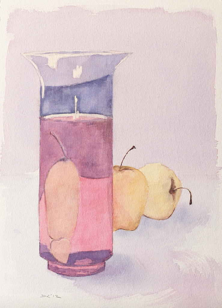 Granny Smiths, watercolor, Aquarelle Arches 300 lb. cold pressed paper, 26 x 36 cm, 2012 SOLD