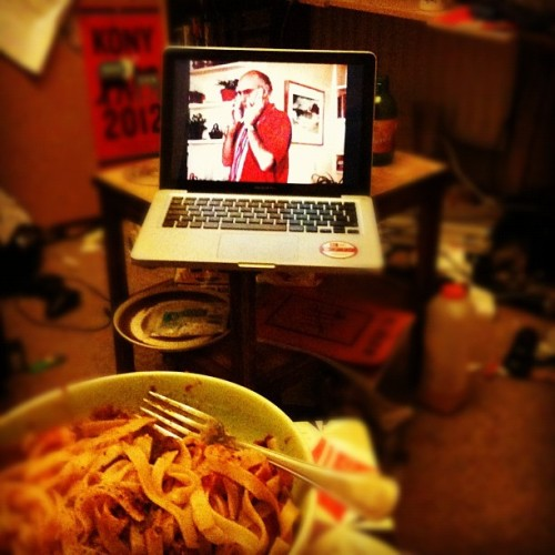 Larry David & dinner (Taken with Instagram)