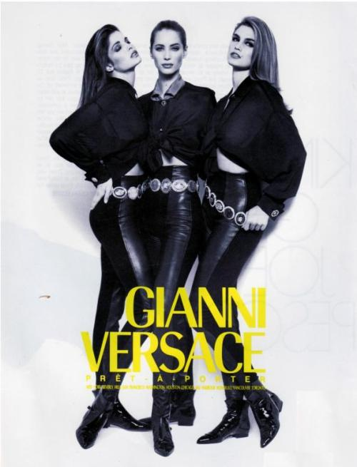 Stephanie Seymour x Christy Turlington x Cindy Crawford for Versace