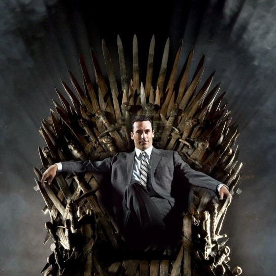 It makes sense that a man with that power can sit in that throne.  laughingsquid:  House Draper