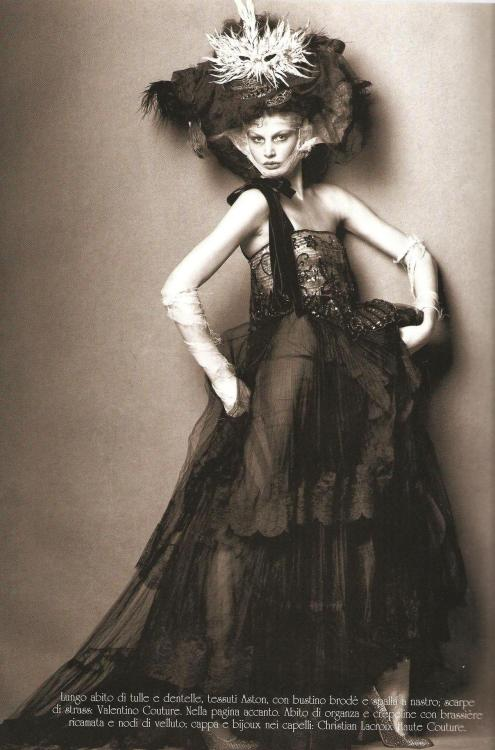 Picture by Steven Meisel for Vogue Italia Couture Supplement (March 2005). Valentino Couture dress.