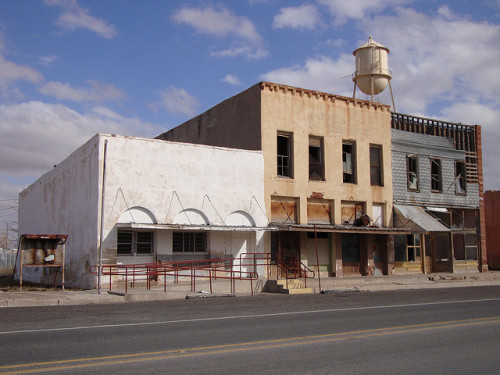 Old Storefront Block (Barstow, Texas) by courthouselover on Flickr.Part of the Texas I see when I write my songs.
