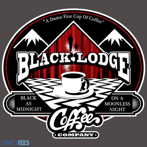 "othertees:  ""Black Lodge Coffee Company"" by Mephias  T-shirt on sale 11th - 14th June on OtherTees for 7.5£/9€/12$."