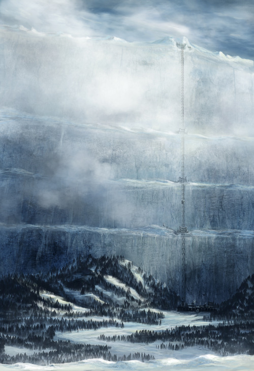 fyeahfantasylandscapes:  The Wall - Game of Thrones by *ChristianGerth