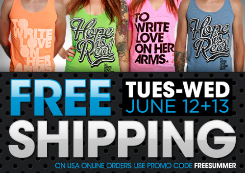 FREE SHIPPING on all U.S. orders begins tonight at midnight EST. Must use promo code FREESUMMER. http://wrt.lv/freesum