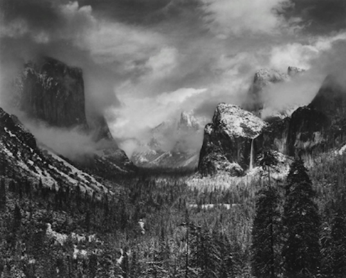 artnet:  Ansel Adams' Photography Ansel Adams (American, 1902–1984) was a master of photographic landscapes. During his impressive career, he won three Guggenheim grants to photograph national parks throughout the US. His gorgeous Clearing Winter Storm, Yosemite National Park, 1940 is now live for bidding on artnet Auctions.