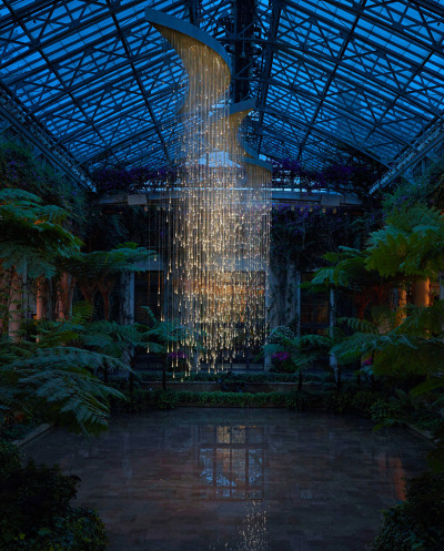 Bruce Munro light sculpture at Pennsylvania's Longwood Gardens