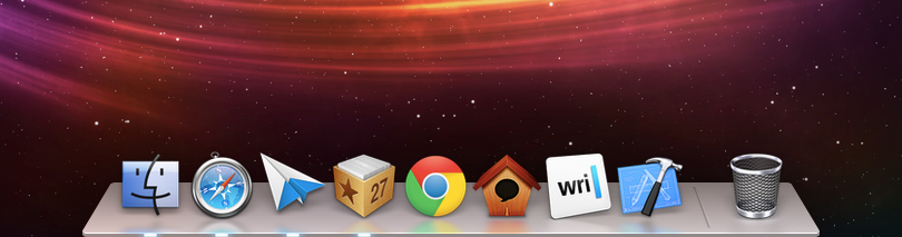 parislemon:  maniacalrage:  I keep my OS X dock on the left side of the screen so this won't really mean much to me long-term, but the new dock design in Mountain Lion is much nicer. I played around with it for a bit on my MacBook Air, and one nice change is even though it still reflects things on the screen like a jackass, the effect is far subtler.  Agreed. It is much nicer — though I too am a left-edge dock kind of guy.