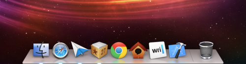 maniacalrage:  I keep my OS X dock on the left side of the screen so this won't really mean much to me long-term, but the new dock design in Mountain Lion is much nicer. I played around with it for a bit on my MacBook Air, and one nice change is even though it still reflects things on the screen like a jackass, the effect is far subtler.