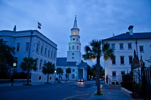 intracoastal-wanderings:  The Four Corners at DuskCharleston, SC