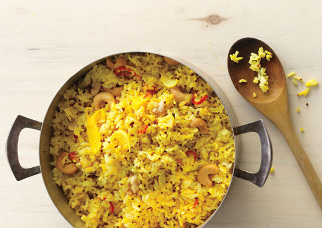 Indian inspired spiced lemon rice