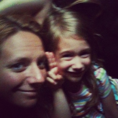 Me and my girl playing in the dark. Power is still out' (Taken with Instagram)
