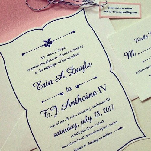 custom design, di-cut and letterpress #wedding #invites printed on the lovely crane lettra.  (Taken with Instagram)