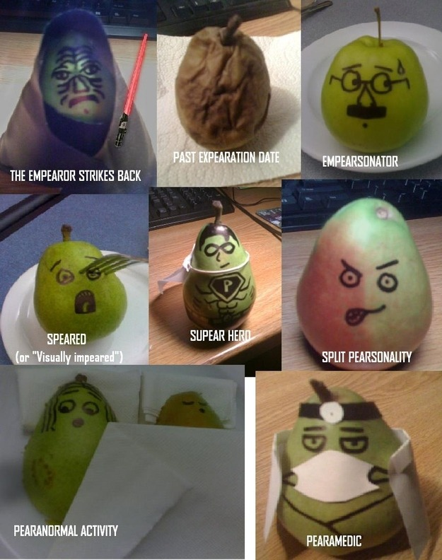 Does anyone remember the lunch when I kept making pear puns and wouldn't stop???