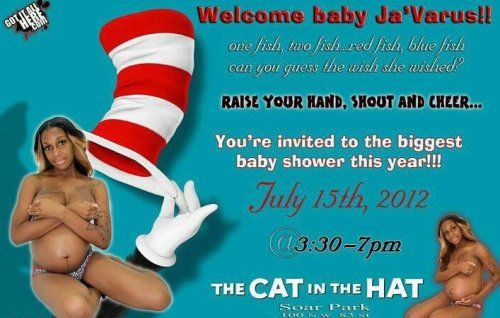 What kind of pornographic Baby Shower Invitation is this?