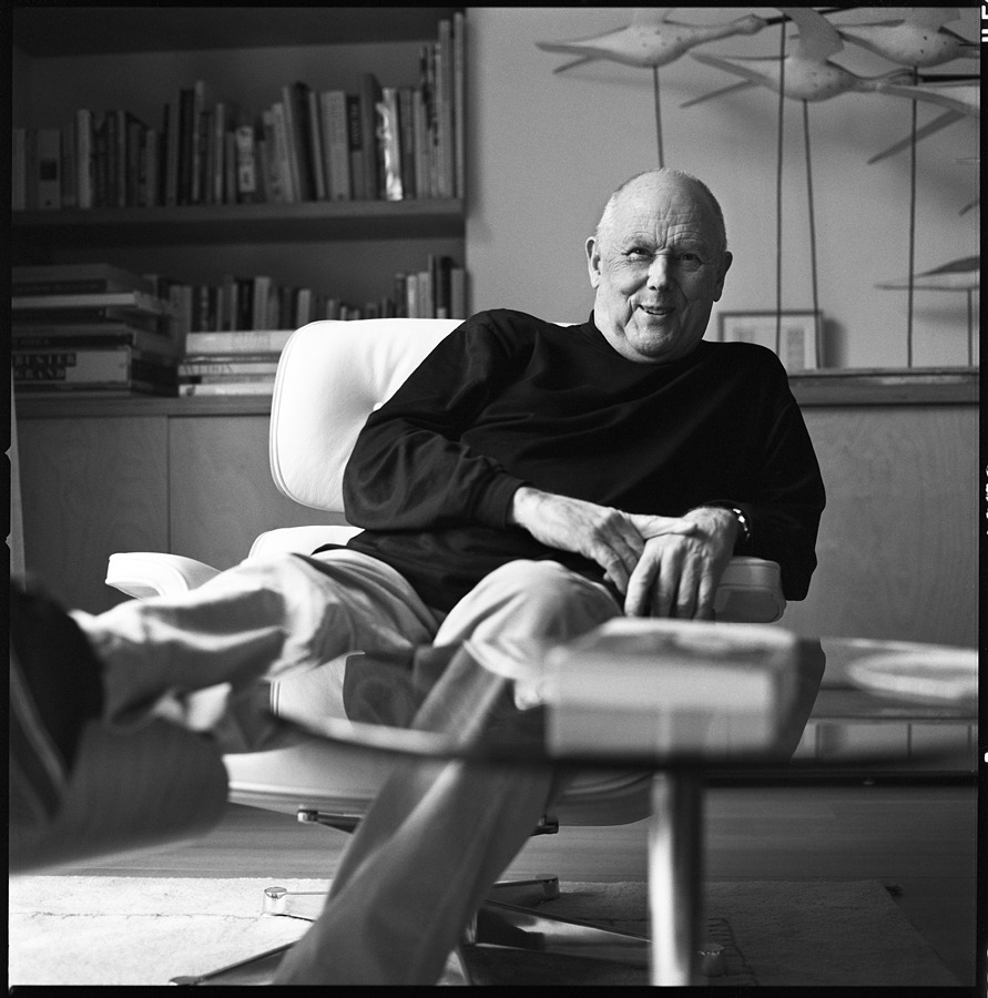Michael Wolff, co-founder of Wolff Olins, has been a big personal influence to me and his views have hugely influenced the way I look at the world around me.  He teaches us to use 3 muscles: curiosity, appreciation and imagination. To him, these were common sense. To me, they open up a whole new world of possibilities.  This photograph were taken during one very memorable conversation. Photo by: Adam Priscak