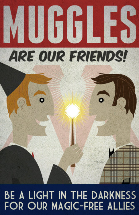 hermionejg:  heyoscarwilde:  Harry Potter propaganda posters illustrations by Kate Moore :: via etsy.com  whoah.