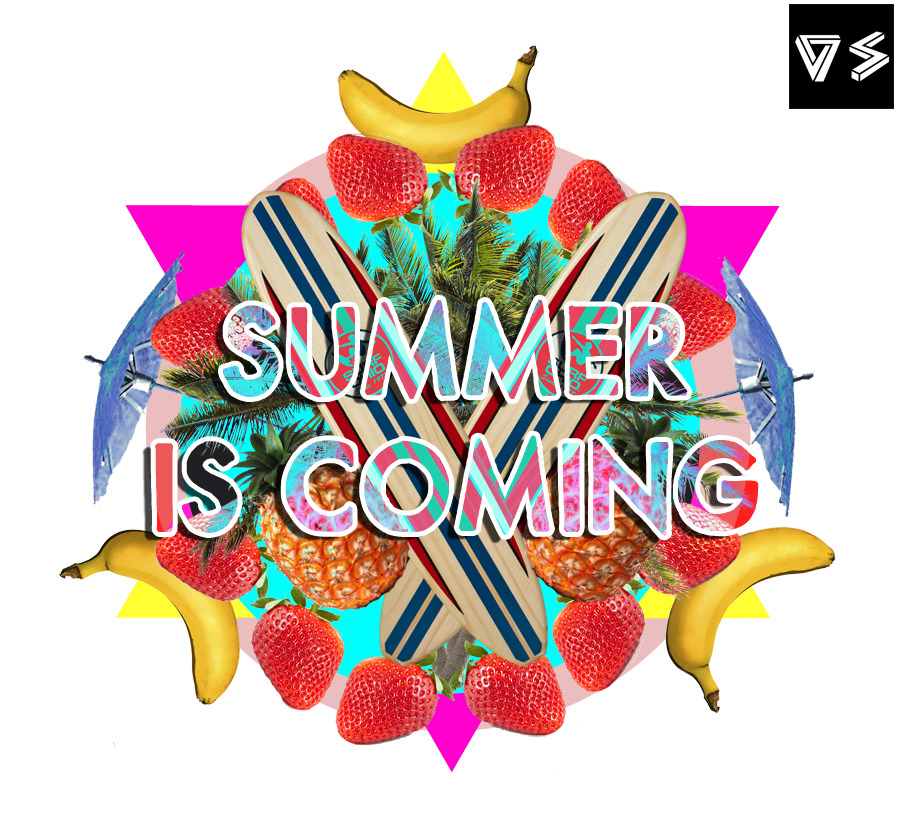 Collage el verano está llegando.  Collage Summer is coming.