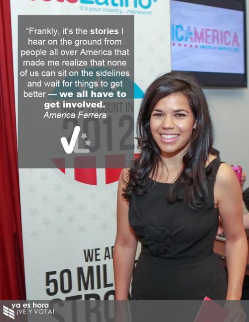 yaeshora:  America Ferrera & Voto Latino are joining forces to mobilize young Latinos to vote. Learn more at America4America.org.