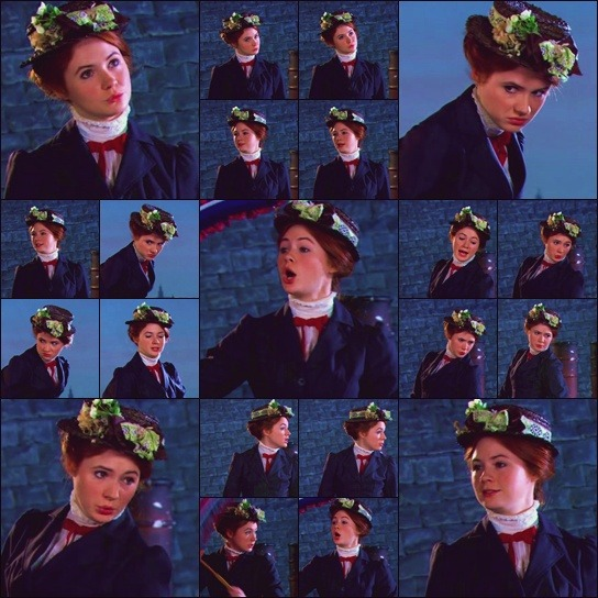 Karen Gillan as Mary Poppins! I'm in love.