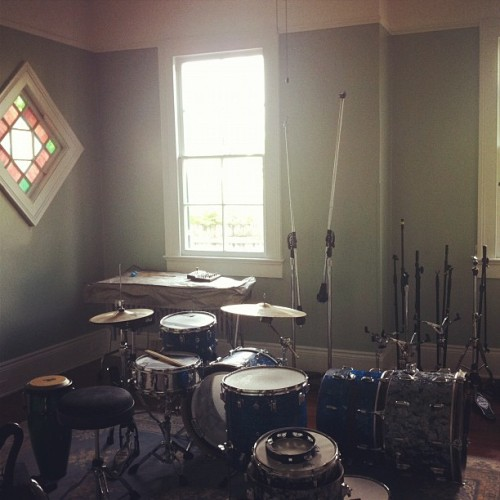 The drum room at our new studio. Mega-reverby!  (Taken with Instagram)