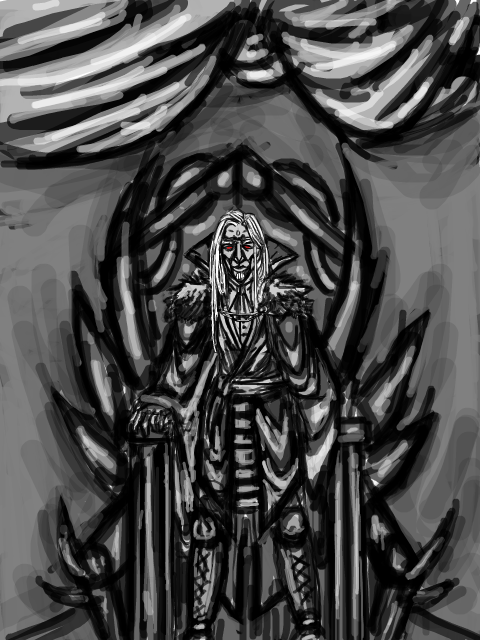 deathfade:  My blood mage Haemon in his throne room..or something. I'm not sure. XD