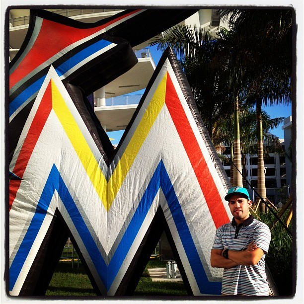 First time at the new park (Taken with Instagram at Marlins Park)