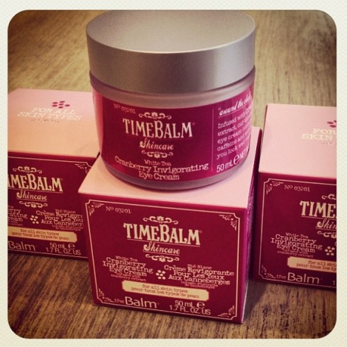 Give your tired eyes a wake up call with timeBalm Cranberry Invigorating Eye Cream. Added caffeine helps reduce puffiness… leaving you looking refreshed!  (Taken with Instagram)
